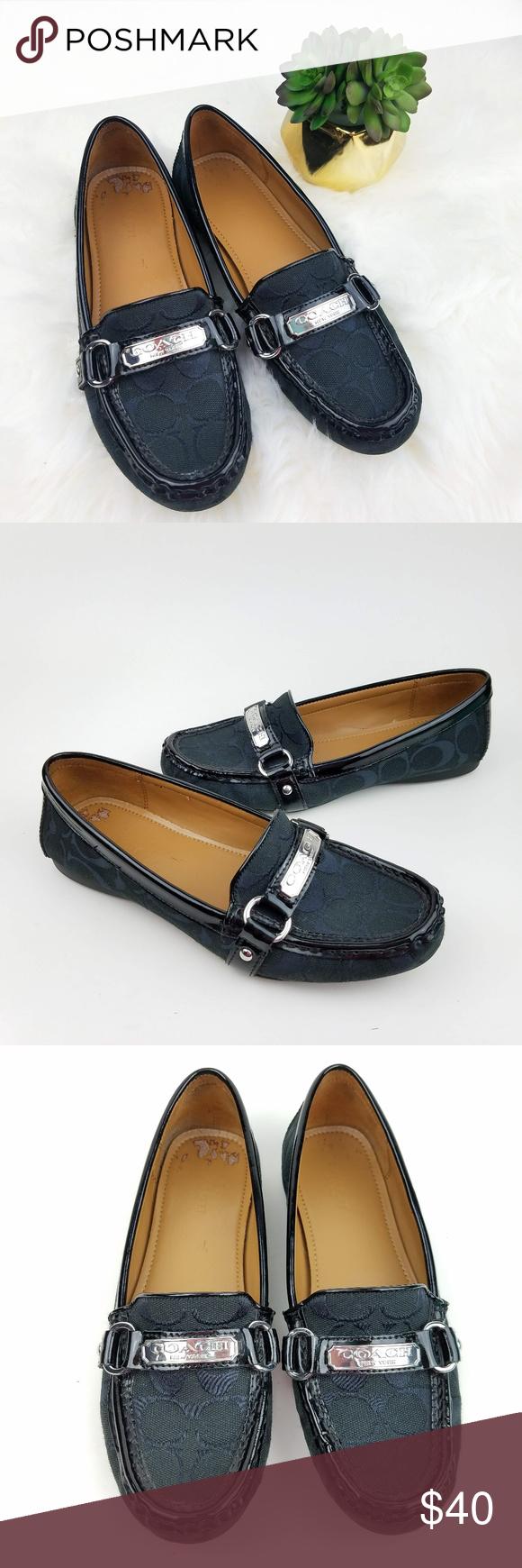 ed581fcfe92 COACH Felisha Black Jacquard   Patent Loafers Women s Coach Felisha Loafers  Black Upper done in Jacquard   Patent trim US Size 7.5B (medium) Pre-owned  in ...