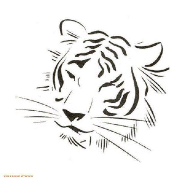Love It So Simple Tiger Tattoo Design Tiger Tattoo Tiger Tattoo Small