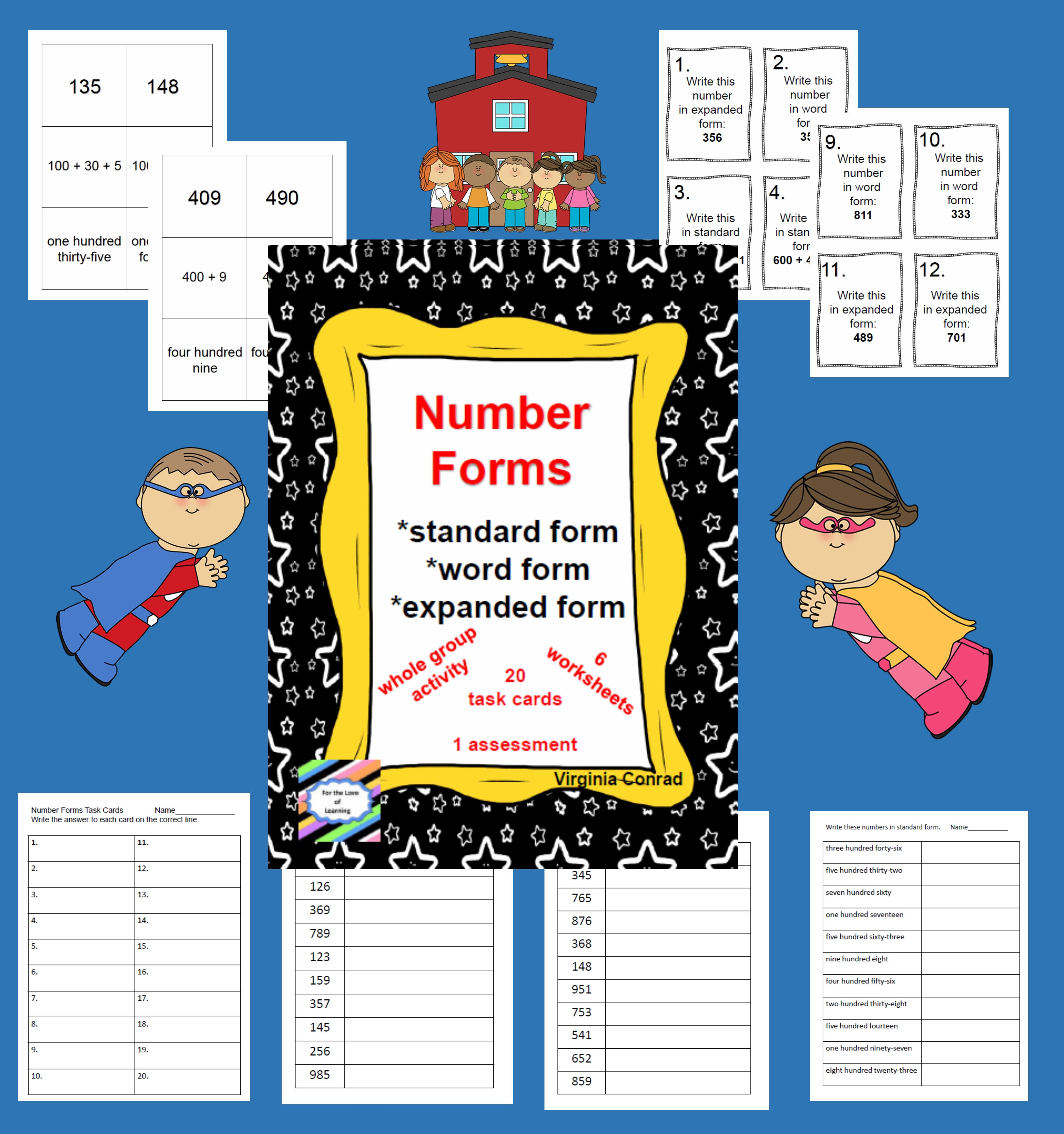 Exploring Number Forms Standard Expanded And Word Forms
