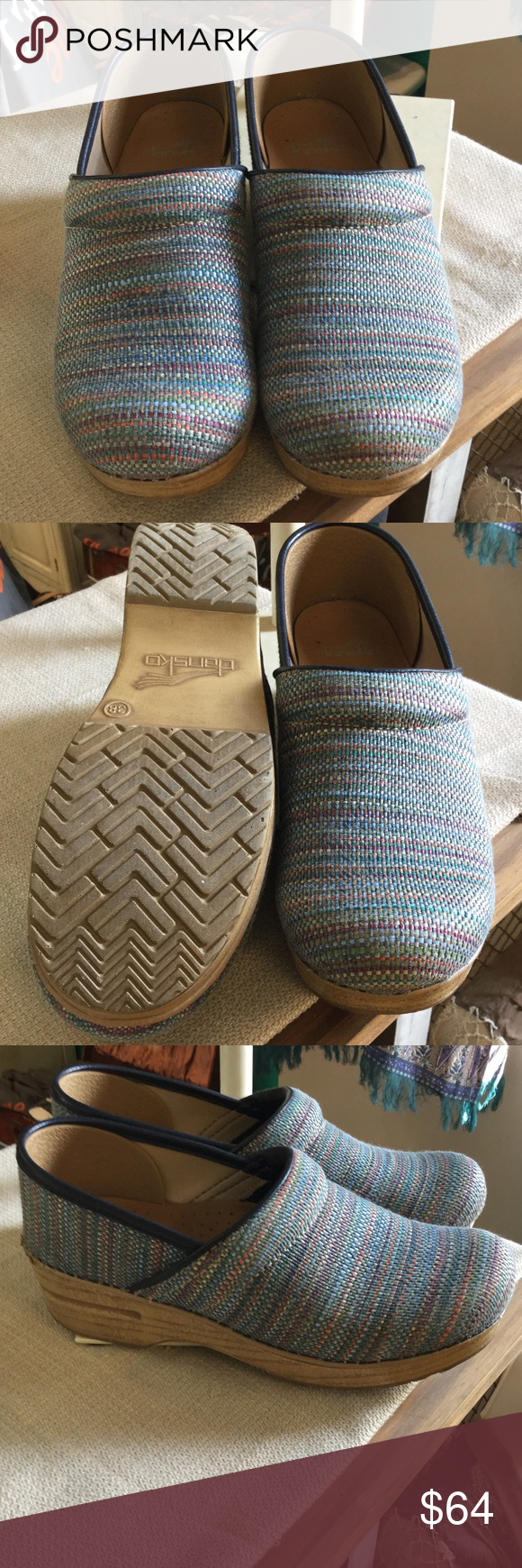 Dansko muted colorful striped shoes Stylish muted colorful striped Dansko shoes Dansko Shoes
