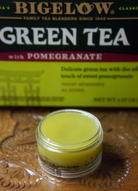 #DIY green tea #LipBalm to green {tea} your beauty routine with Bigelow Tea! #AmericasTea #ad #cbias
