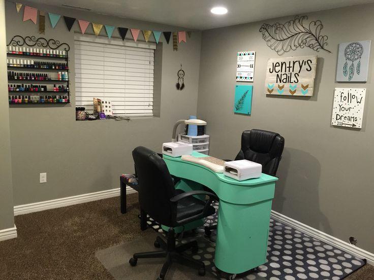 Good Home Salon Decorating Ideas Part - 10: Home Nail Salon Idead