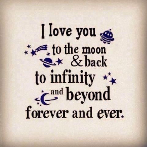 I Love You To The Moon And Back Love Love Quotes Friendship
