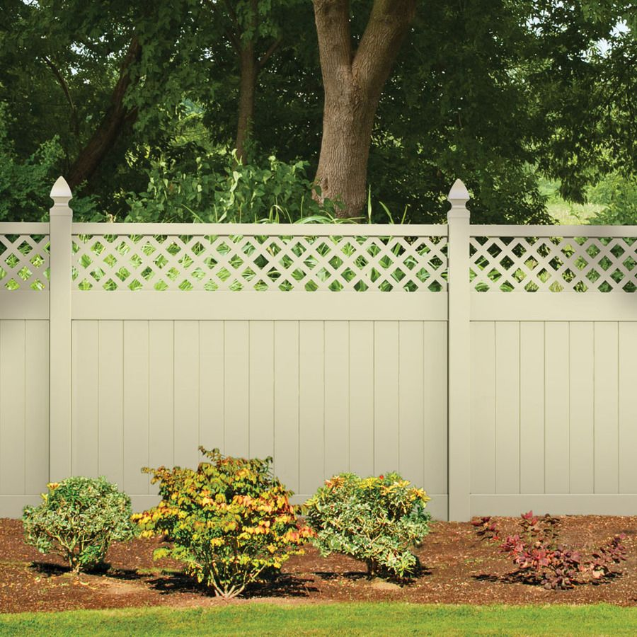 vinyl fence panels lowes. LOWES: Shop FREEDOM Contractor Bradford Sand Lattice-Top Semi-Privacy Vinyl Fence Panel (Common: 72-in X 8-ft; Actual: 7.59-ft) At Lowes.com Panels Lowes