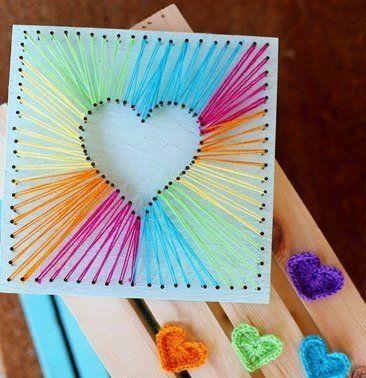Photo of Wandbild mit Herz aus Fäden basteln   DekoKing – DIY & mehr