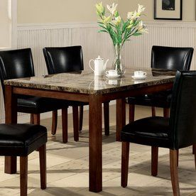 Coaster Fine Furniture Telegraph Faux Marble Dining Table At Lowes