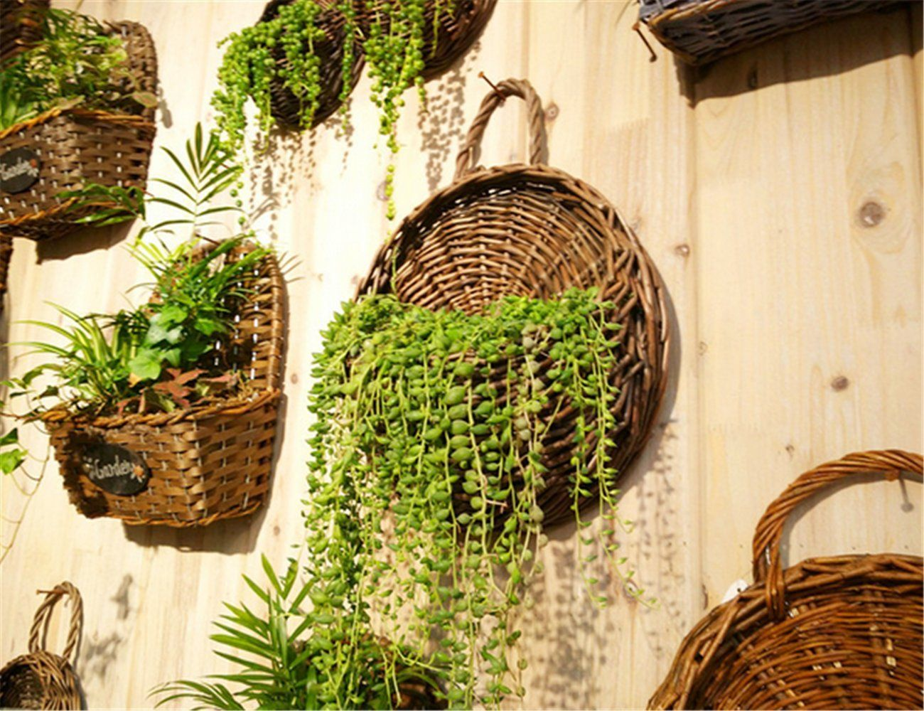 Amazon.com : Kingbuy Hand Made Decorative Willow woven baskets, wall ...