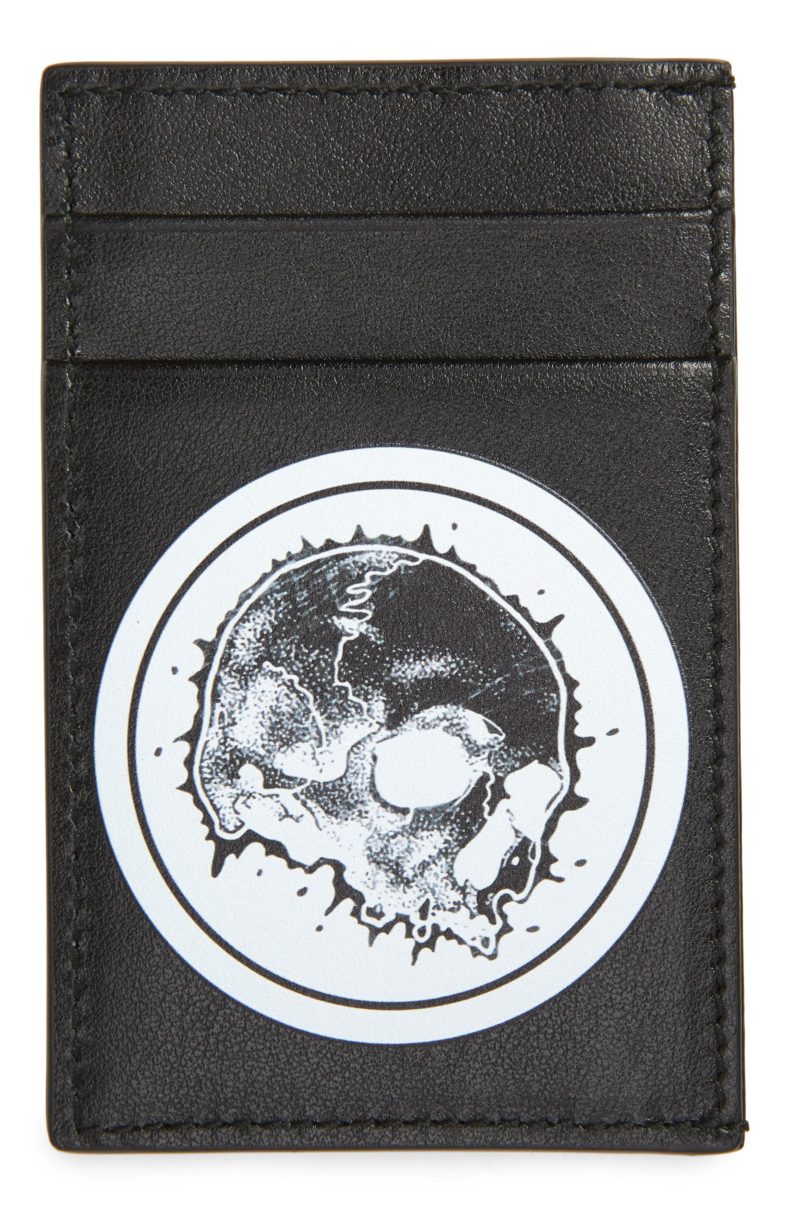 newest badcf 4a851 Men's Alexander Mcqueen Skull Leather Card Case - Black | Products ...