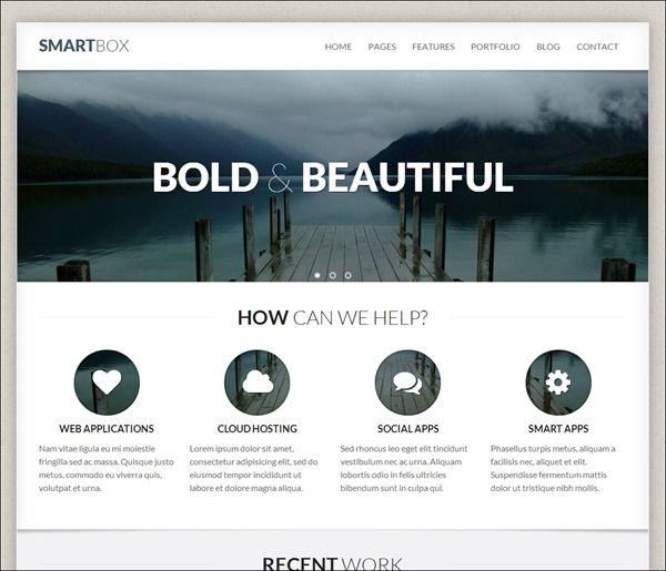 SmartBox-Responsive-WordPress-Bootstrap-Theme.jpg (600×515)   web ...