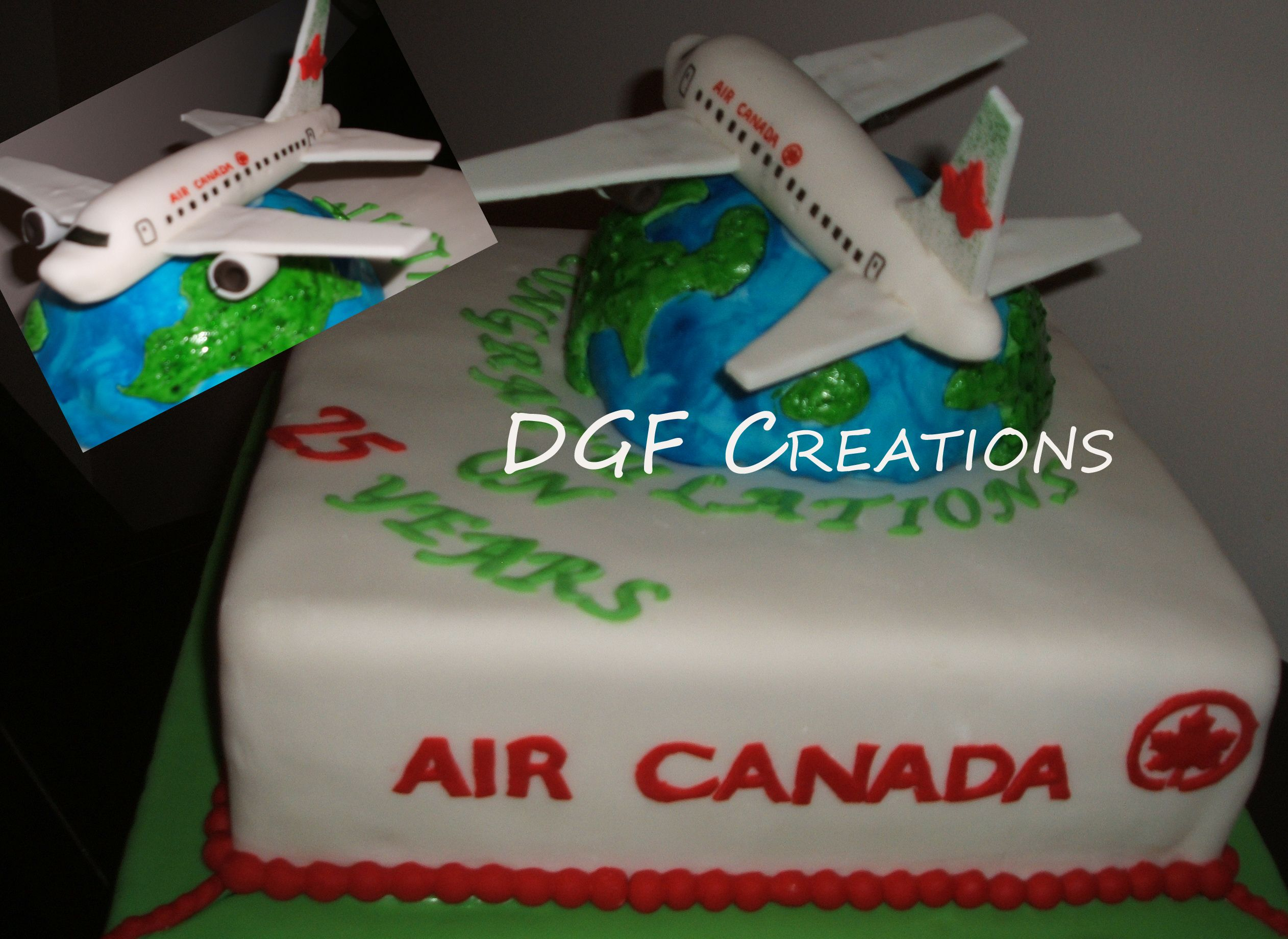 Cake for air canada anniversary celebration everything is