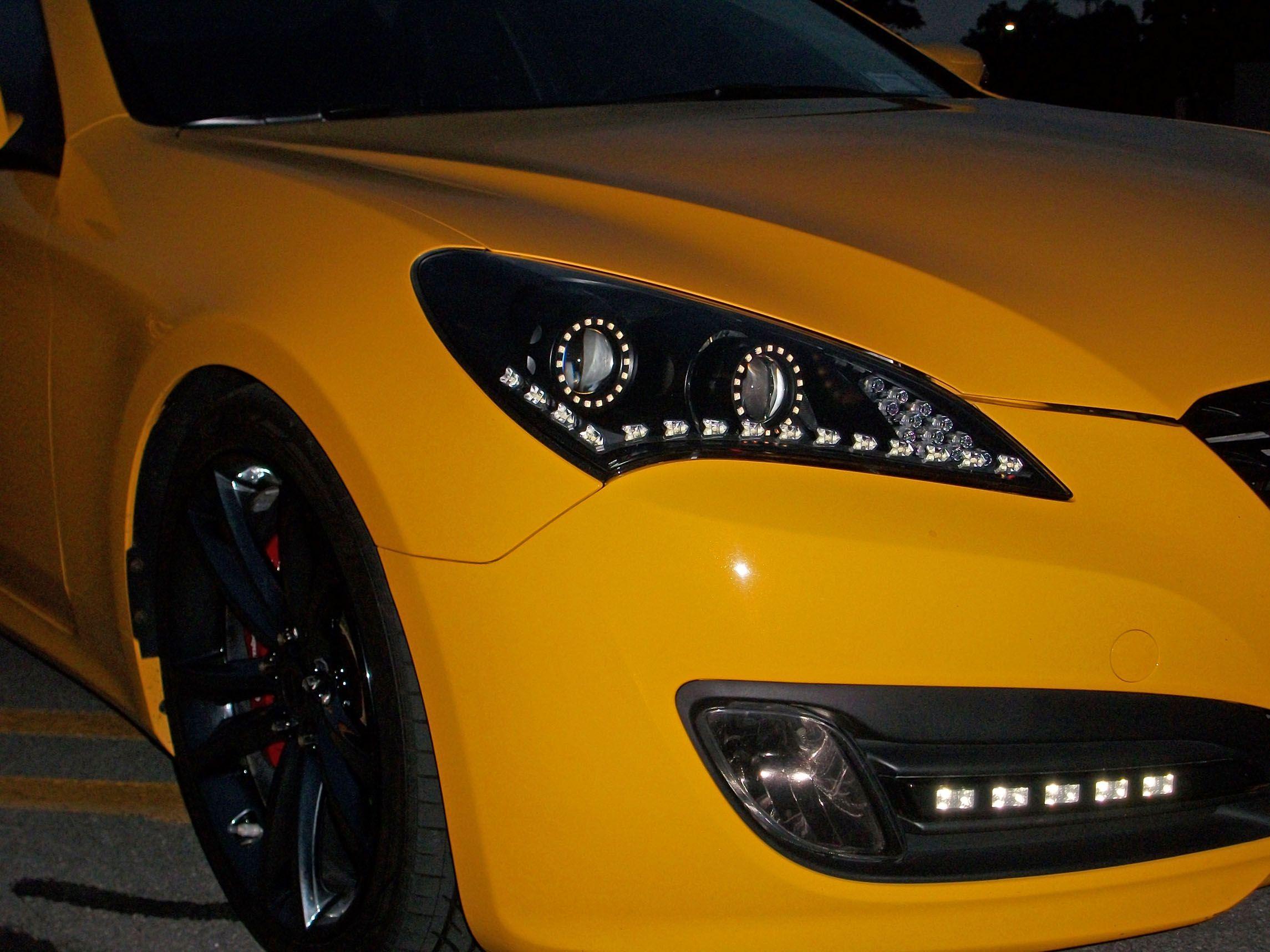 Dennis Genesis Coupe Dual Projector Led Headlights By Flyryde Hyundai Genesis Coupe Coupe Hyundai Genesis