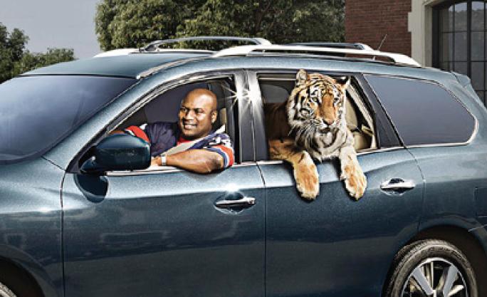 Photo of Bo Jackson  - car