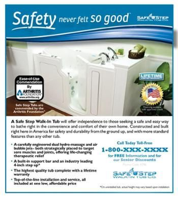 Safe Step Walk In Tub Company Offers A Safe And Easy Way To Bathe