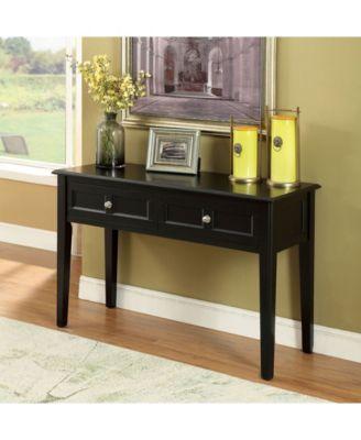 Vendell Sofa Table Quick Ship Black Wood Sofa Table Sofa