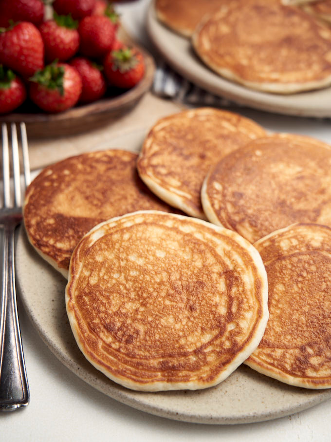 Eggless Pancakes Fluffy And Delicious The Worktop Recipe In 2020 Eggless Pancake Tasty Pancakes Delicious
