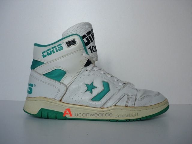 1991 VINTAGE CONVERSE CONS 100 BASKETBALL HI SHOES TOPS
