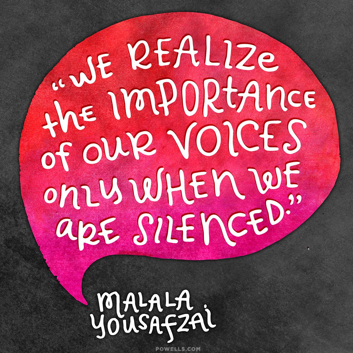 Congratulations on the Nobel Peace Prize Malala! #quote