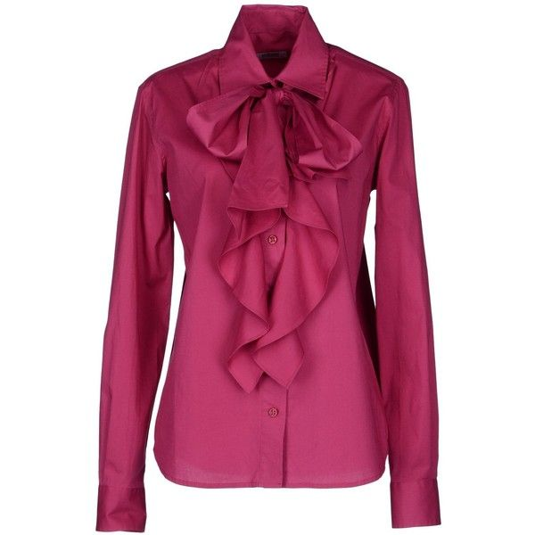 MOSCHINO CHEAPANDCHIC Long sleeve shirt (235 AUD) ❤ liked on ...