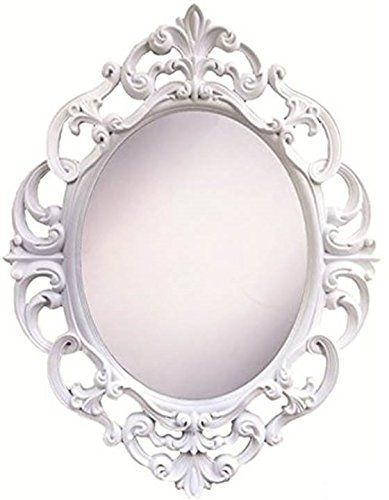 Angels Treasure 15 Inch Oval Wall Mounted Mirror Elegant Vintage Antique Style In Classic White Read More At The Im Wall Mounted Mirror Ornate Mirror Mirror