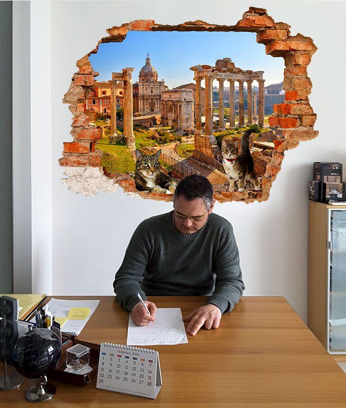 Adesivi Murali Buco nel muro VENEZIA decorazioni murali 09