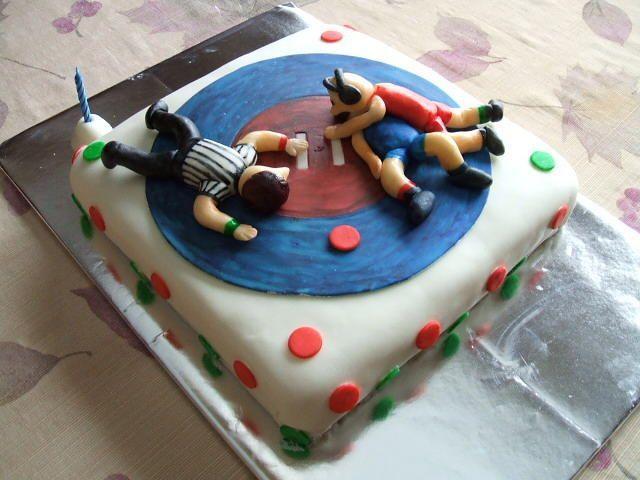 Wrestling Birthday Cake Wrestling Birthday Cakes Wrestling Cake
