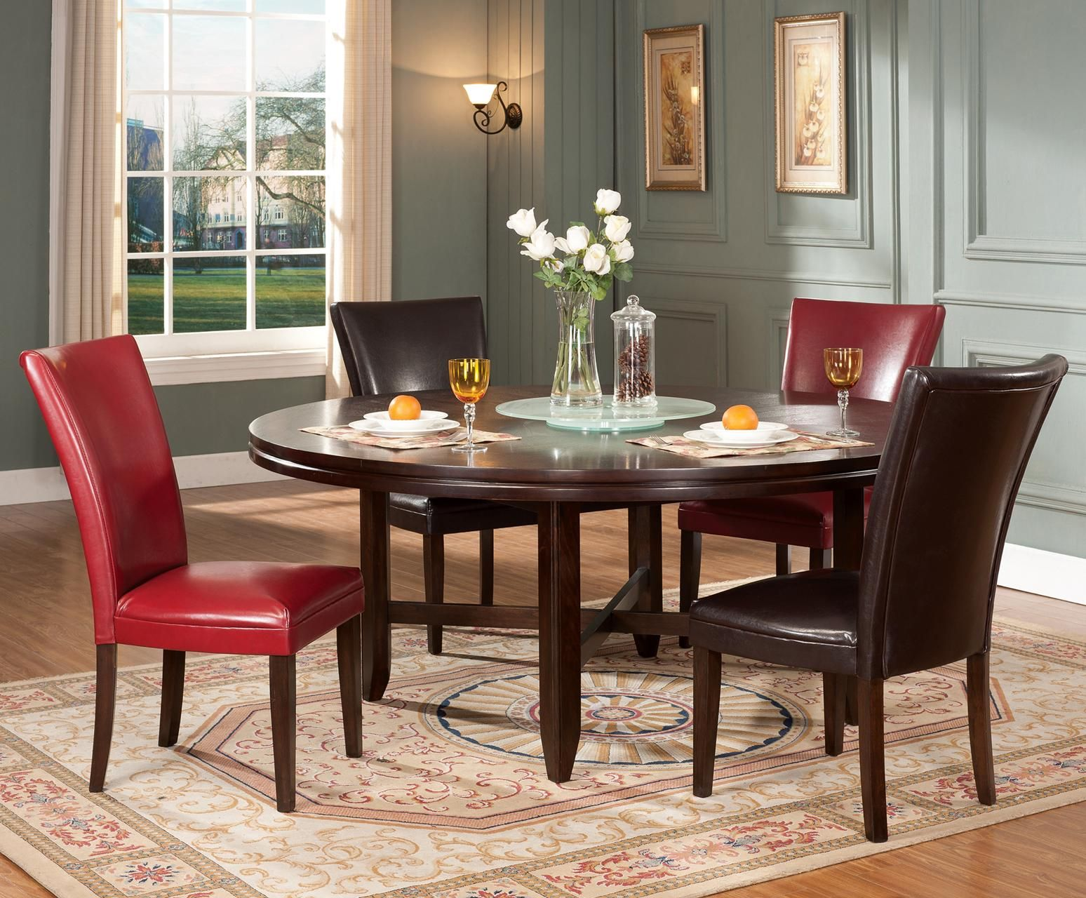 Dining table with parsons chairs condo pinterest parsons