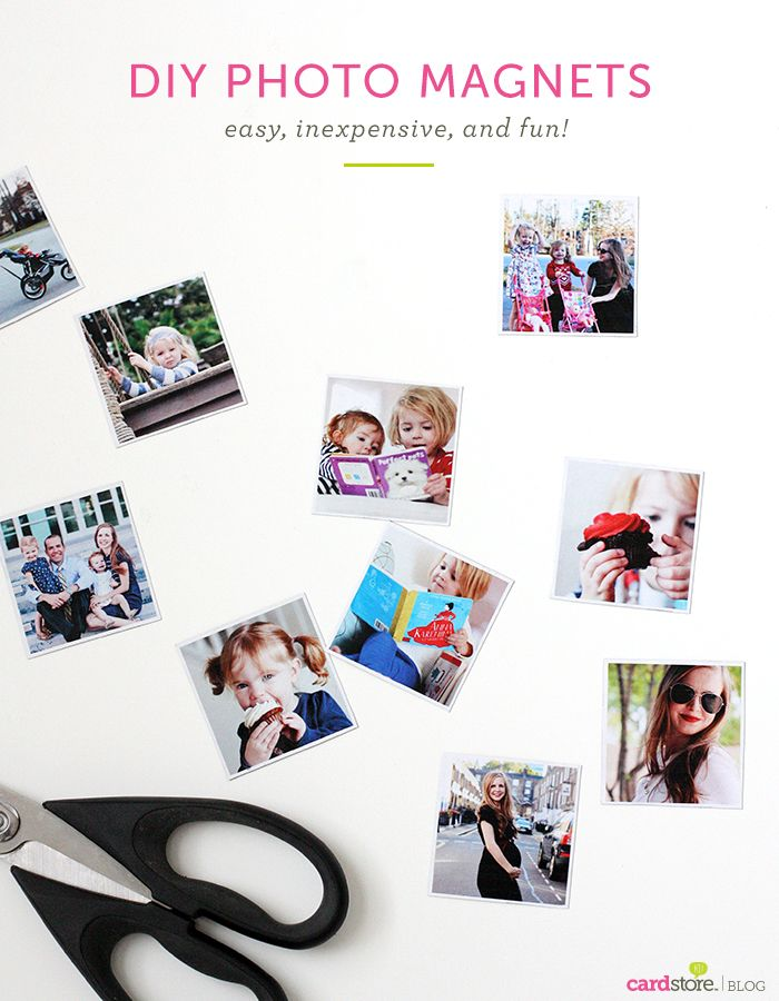 DIY Photo Magnets Easy Inexpensive And Fun