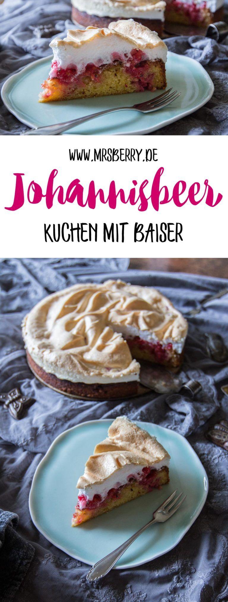 Rezept für Johannisbeerkuchen mit Baiser | MrsBerry Familien-Reiseblog | Über das Leben und Reisen mit Kind