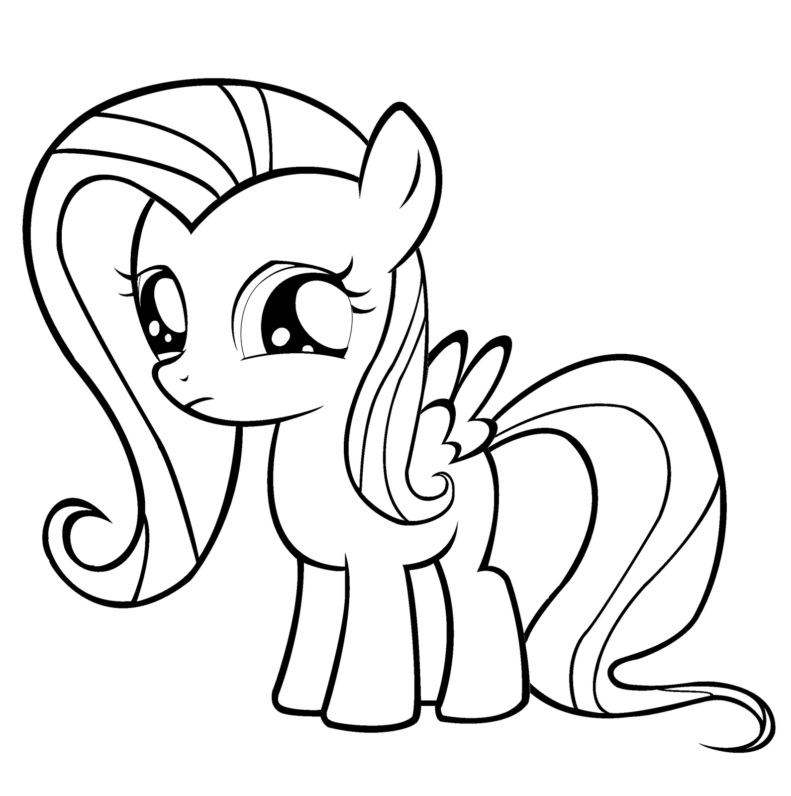 Coloring Fun Young Fluttershy My Little Pony Coloring Animal Coloring Pages Cartoon Coloring Pages