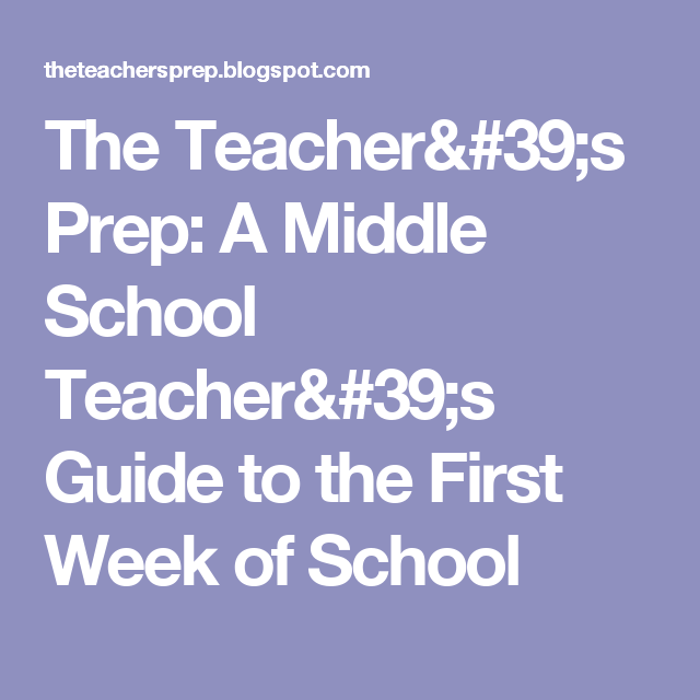 the teacher s prep a middle school teacher s guide to the first rh pinterest com teacher's guide wonders second teacher's guide grade 6