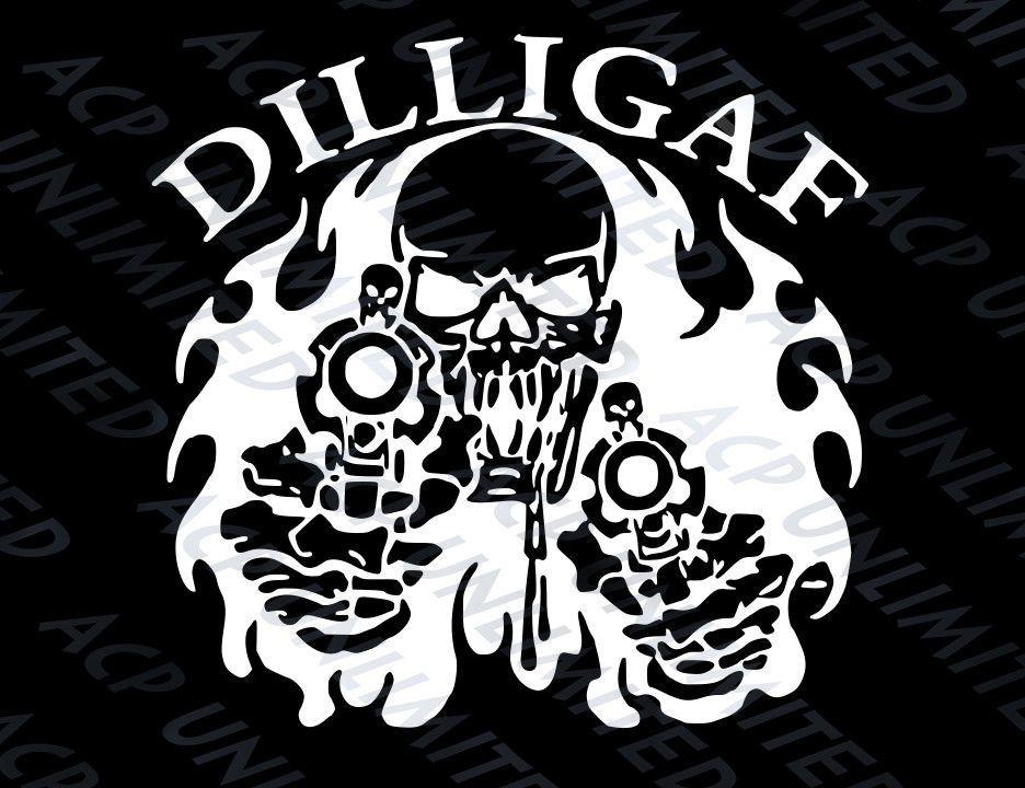 DILLIGAF SKELETON FINGER BIKER HOODIE BIKERS STYLE GIFT DILLIGAF