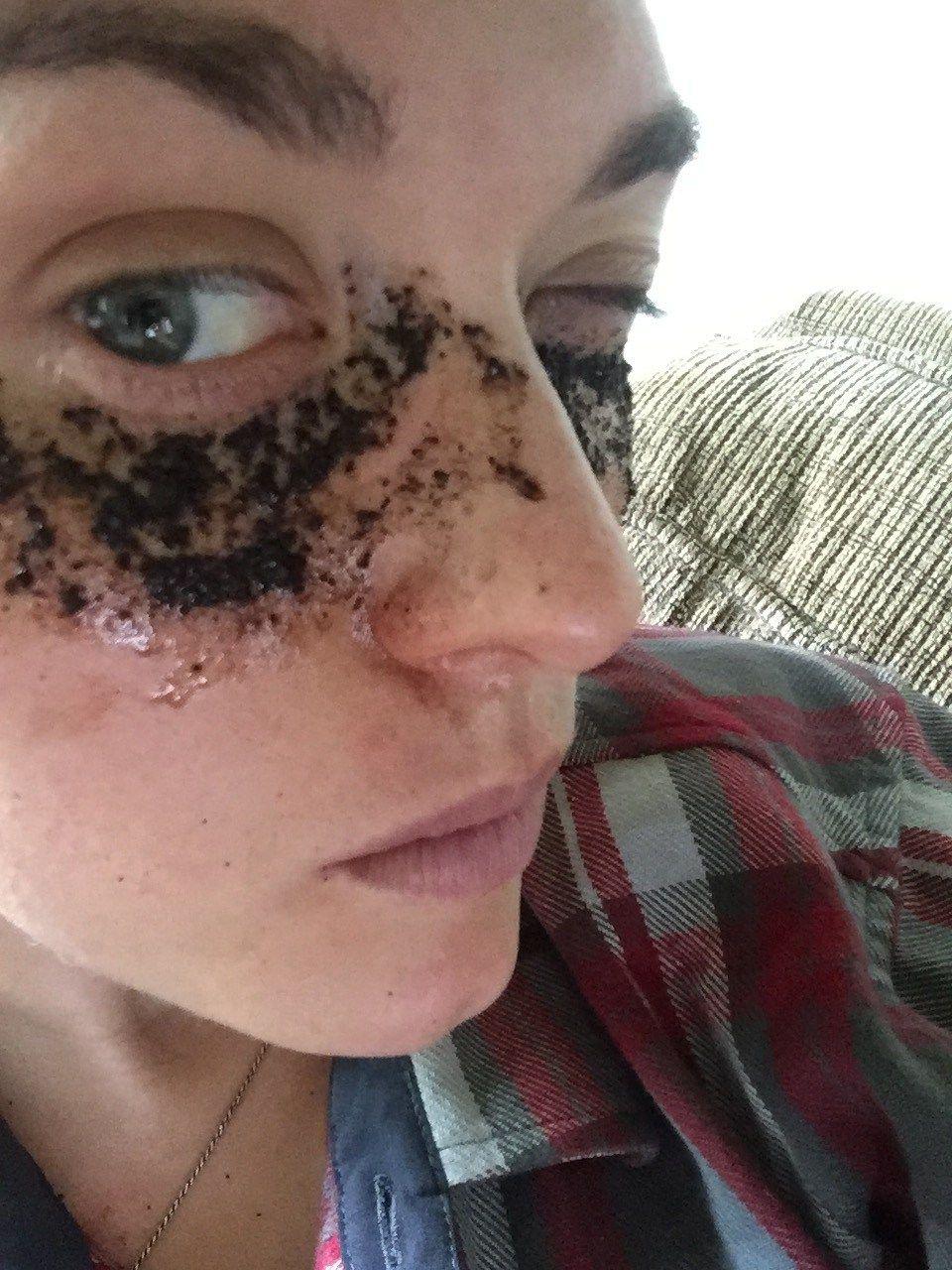 Coffee lovers dream diy eye mask