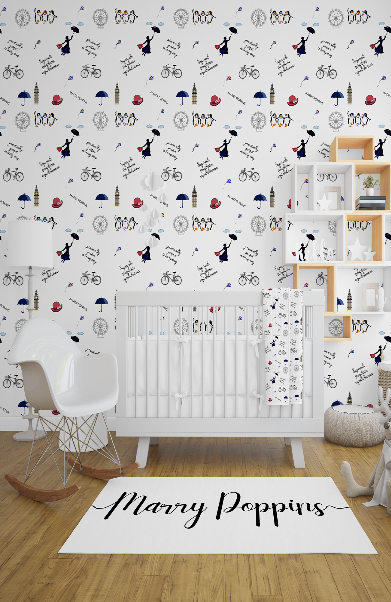 Marry Poppins Quotes Wallpaper Peel And Paste Wallpaper Into The Children S Space Baby Room Decor Kid Spaces Childrens Bedrooms