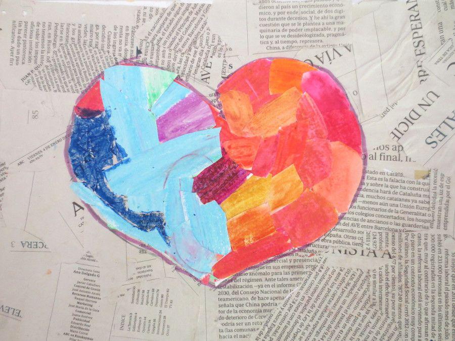 CORAZÓN: Colores Fríos Y Cálidos. 3º Y 4º De EP, Colegio