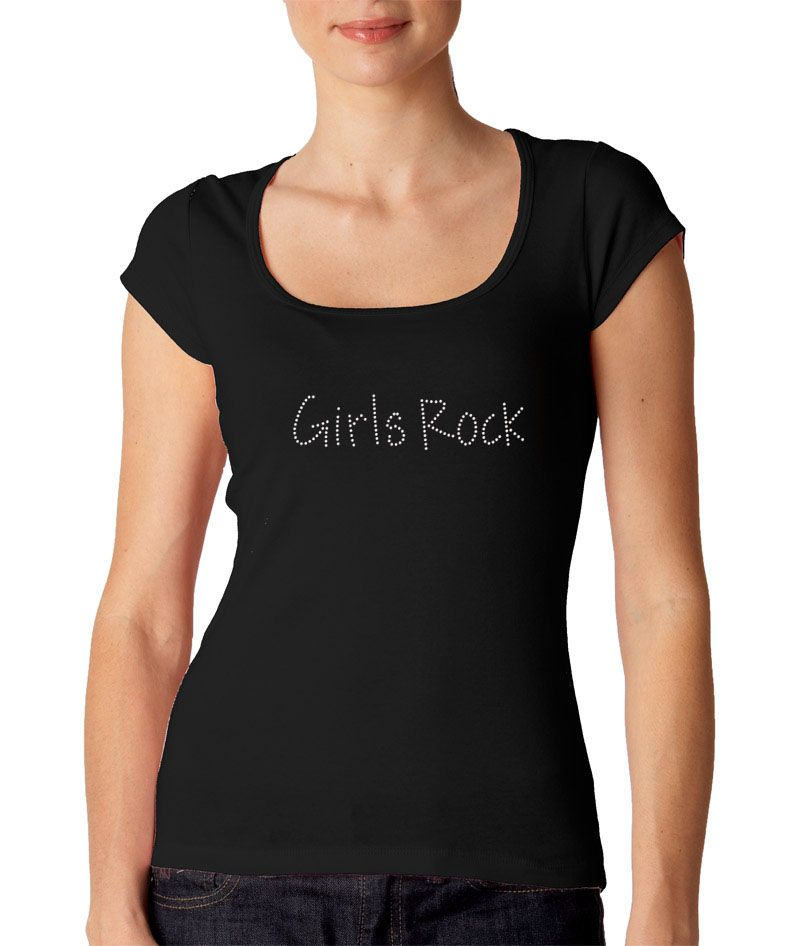 Girls Rock Rhinestone T Shirt - Andy Font  13.34  812298e8e