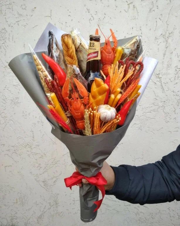 Мужской букет своими руками фото, папе цветов