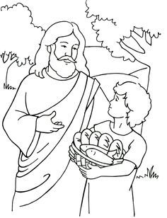 Jesus Feeds 5000 Coloring Page Could Be Used With Http - Feeding-of-the-five-thousand-coloring-page