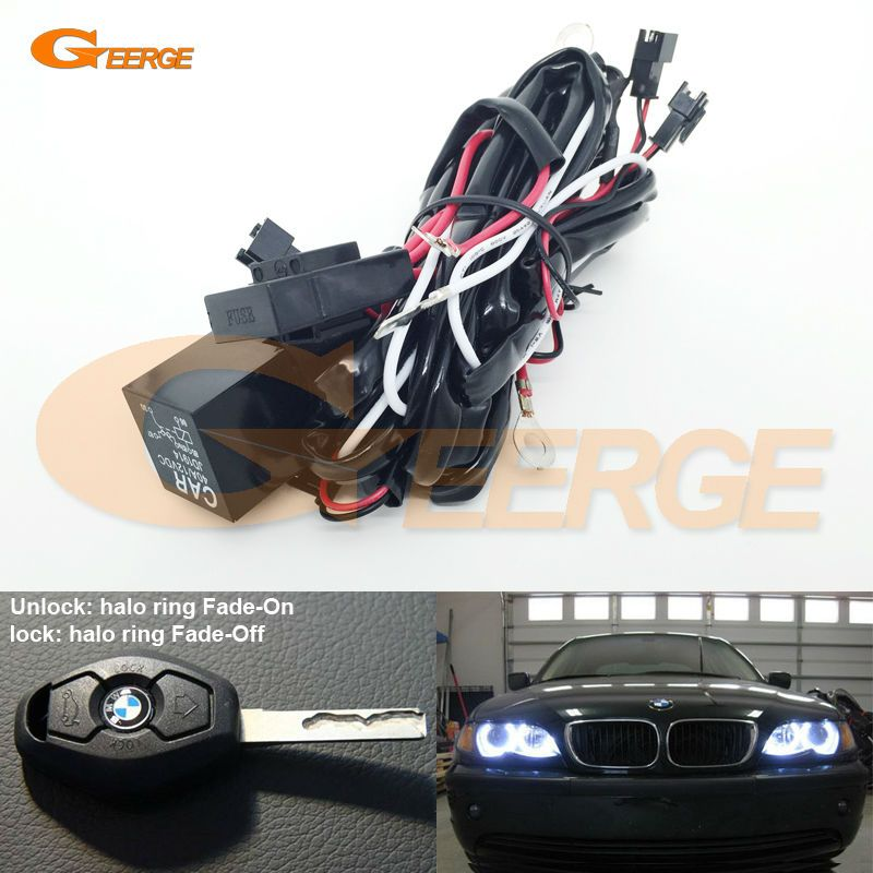 Relay Wiring Harness Kit For Bmw Angel Eyes Halo Rings Led Or Ccfl Relay Harness W Fade On Fade Off Features Bmw Angel Eyes Car Lights Light Accessories
