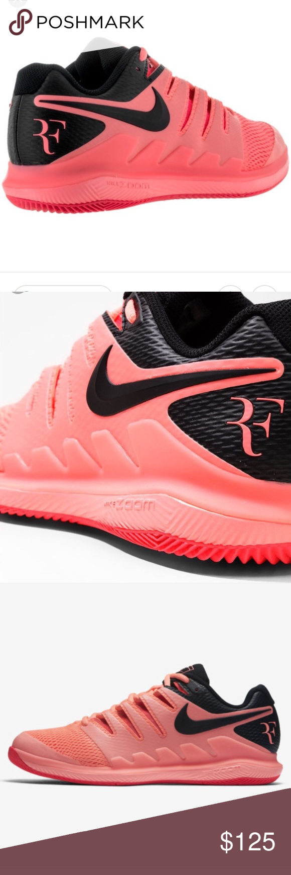 6533786012b Nike AA8030 660 Air Zoom Vapor x HV Lava Glow NWOB New Nike AA8030 660 Air  Zoom Vapor x HC Lava Glow Roger Federer sneakers in size 7.5 Nike Shoes