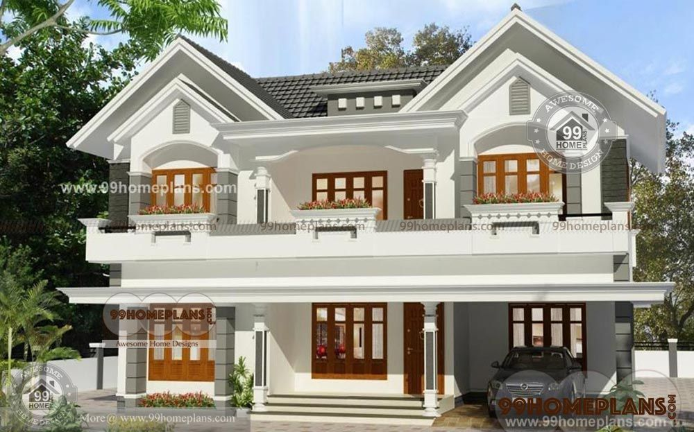 Most Popular Style Home Design With 3d Elevation Kerala Style House Plans With Cost Two Kerala House Design Small House Design Kerala Latest House Designs
