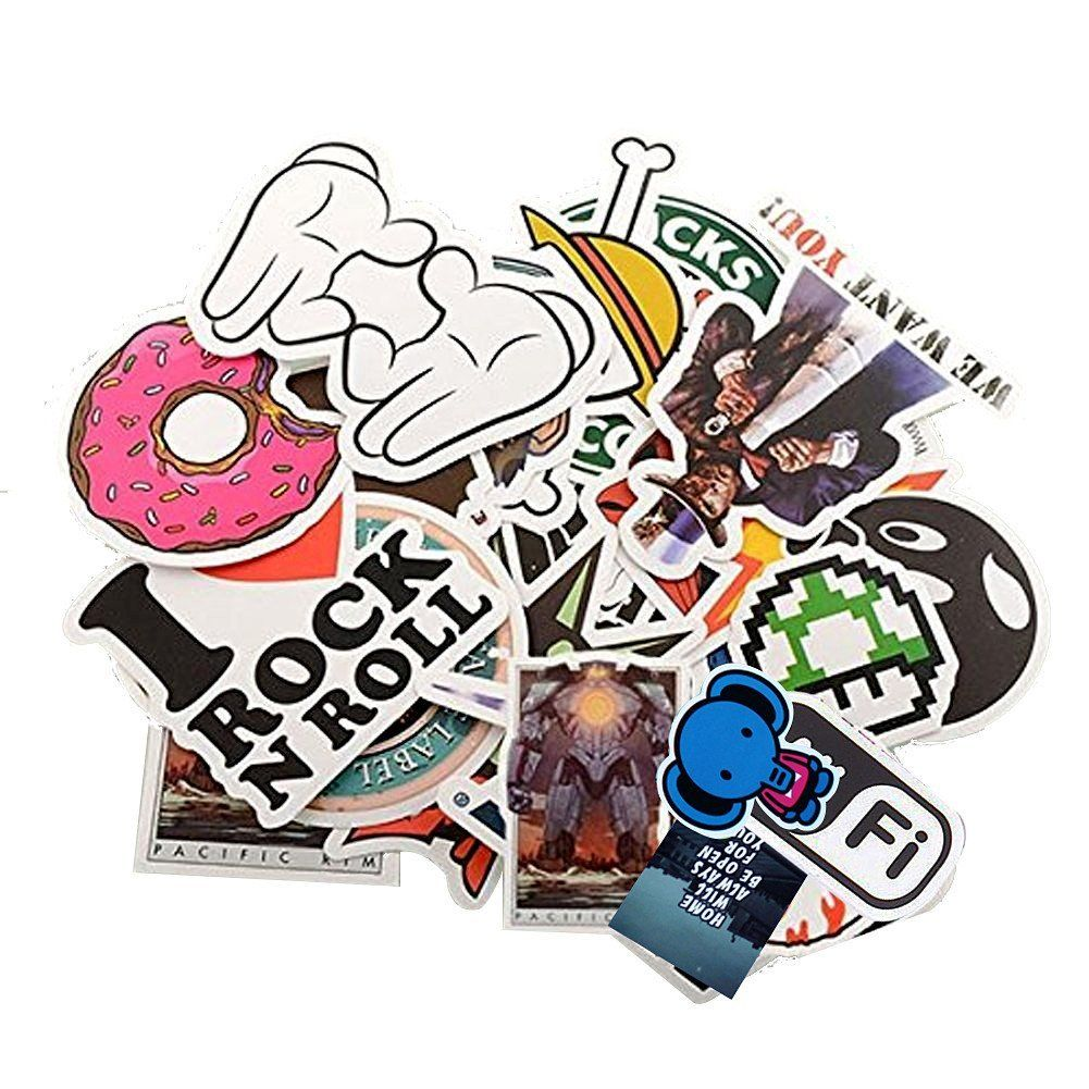 Amazon Com Stillcool Pack Of 200 Stickers Skateboard Snowboard Vintage Vinyl Sticker Graffiti Laptop Luggage Car Sticker Graffiti Vinyl Sticker Cute Stickers [ 1001 x 1001 Pixel ]