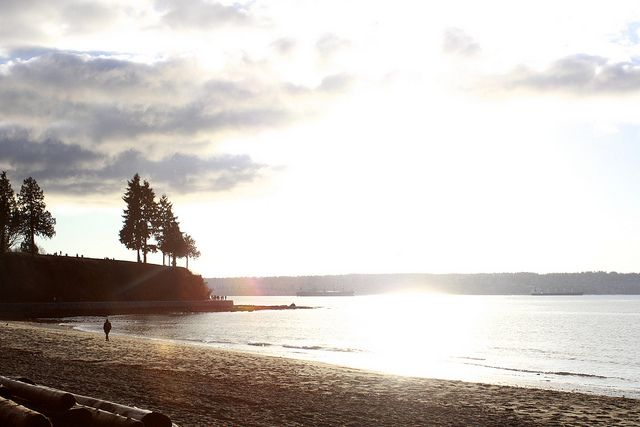 Sunset from Stanley Park by Challenge Steph, via Flickr