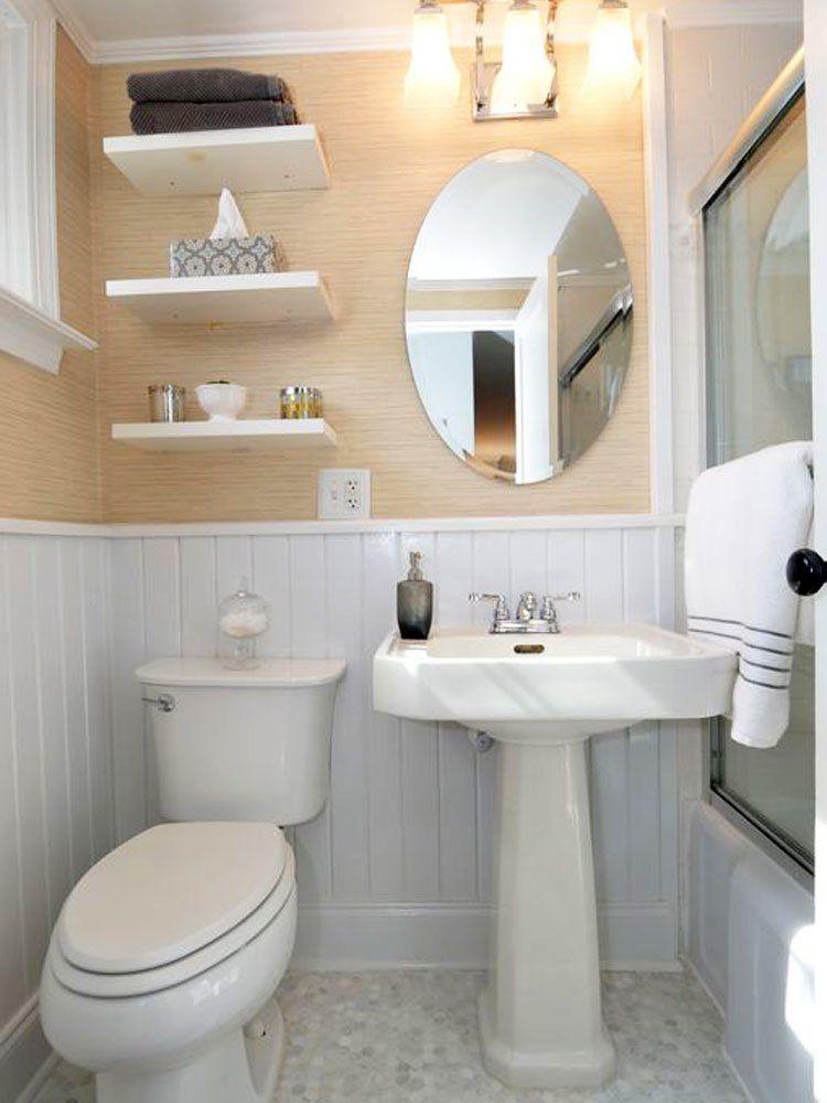 25 Tiny Bathrooms We Love Tiny Bathrooms Small Bathroom Tiny Bathroom Storage