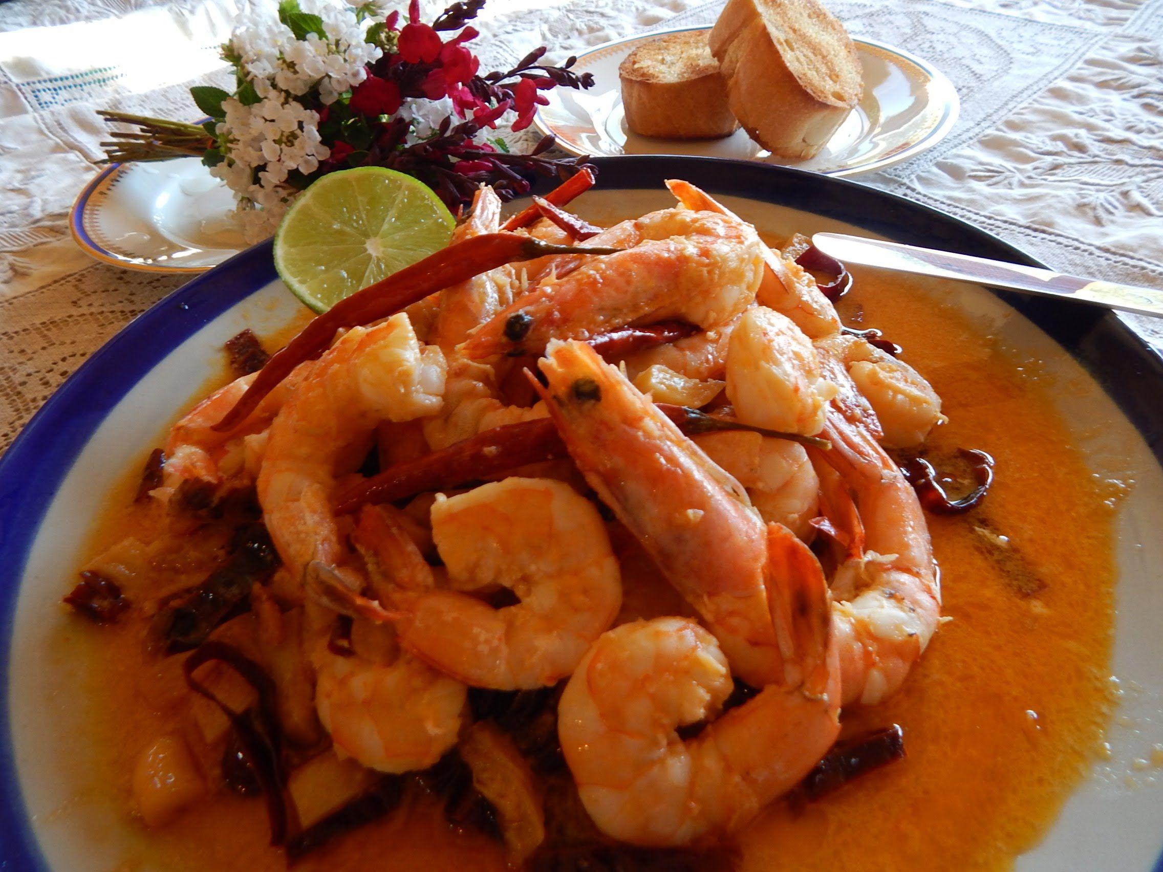 camarones al ajillo receta mexicana