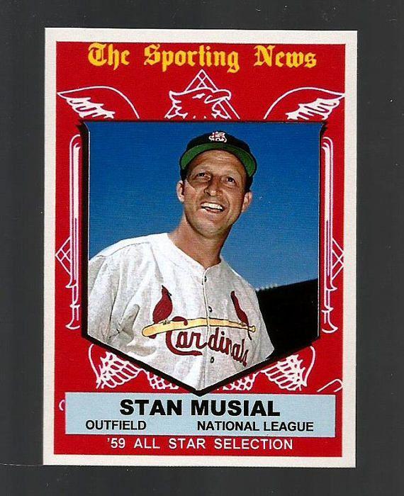 1959 Topps Stan Musial All Star Stan Musial Baseball Cards St Louis Baseball