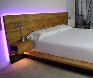 Diy Platform Bed With Floating Night Stands With Images Diy