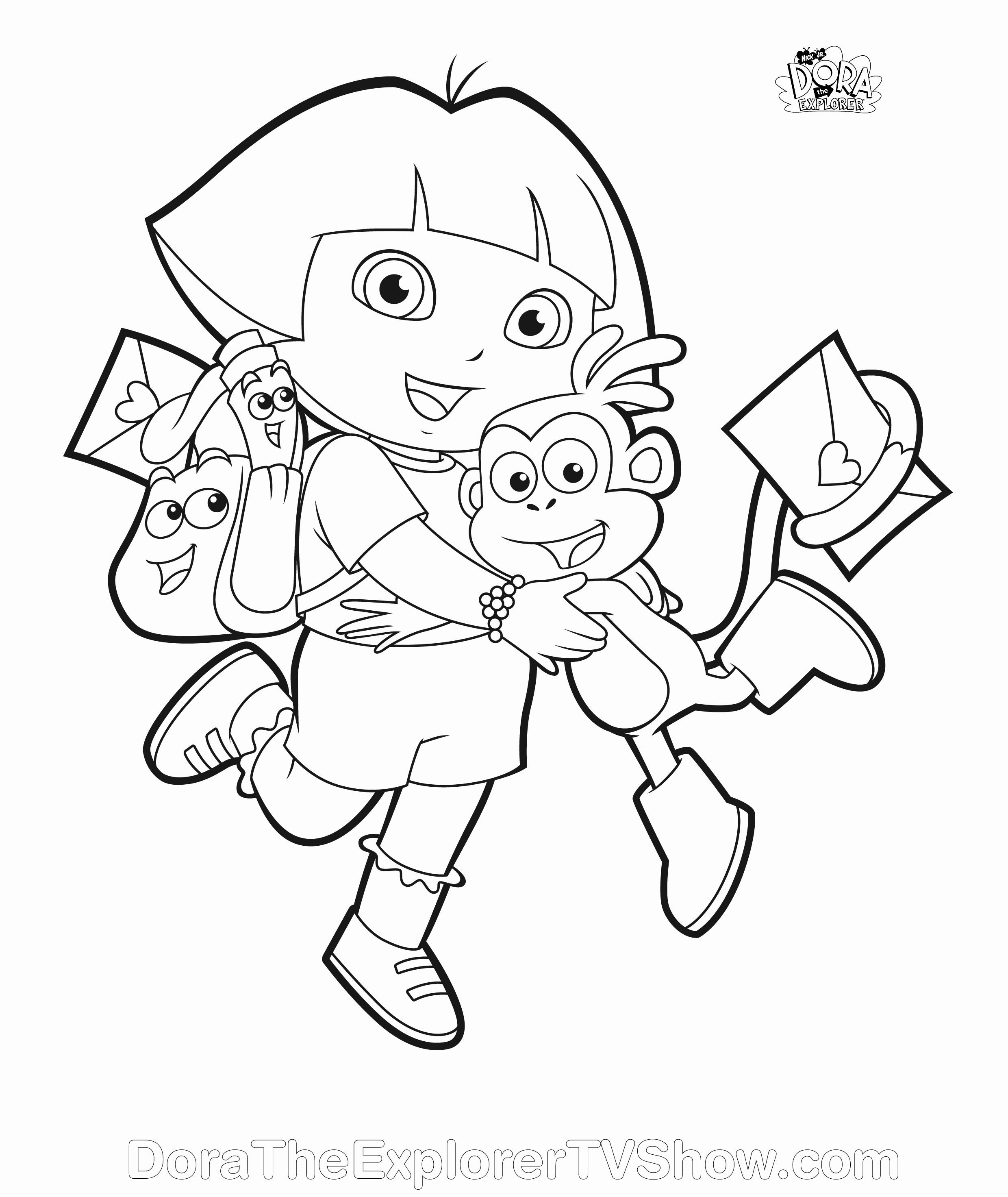 Dora coloring page | Free Printable Coloring Pages | 2944x2480