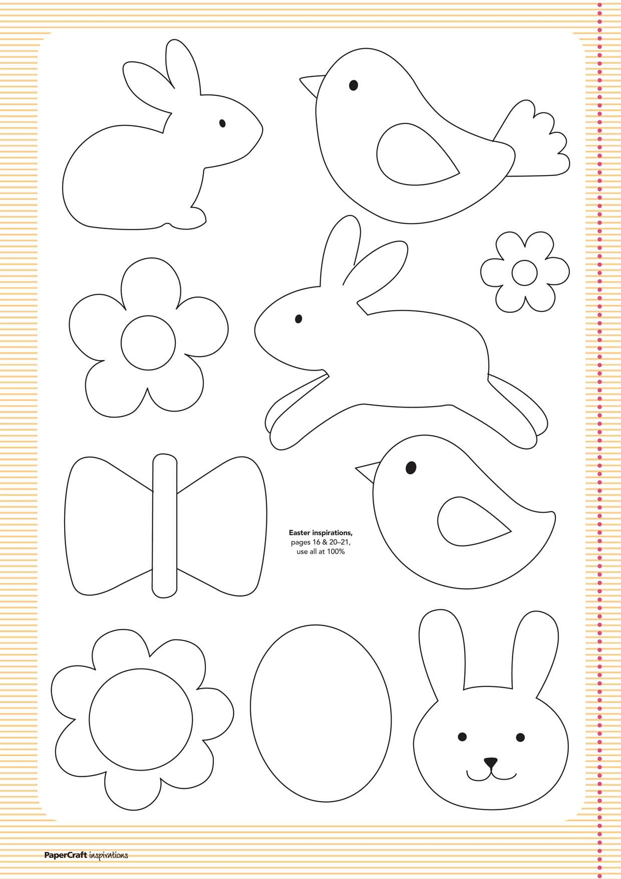 FREE Templates from your April issue... | Papercraft Inspirations ...