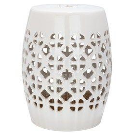 Safavieh 18 5 In Cream Ceramic Barrel Chinese Garden Stool