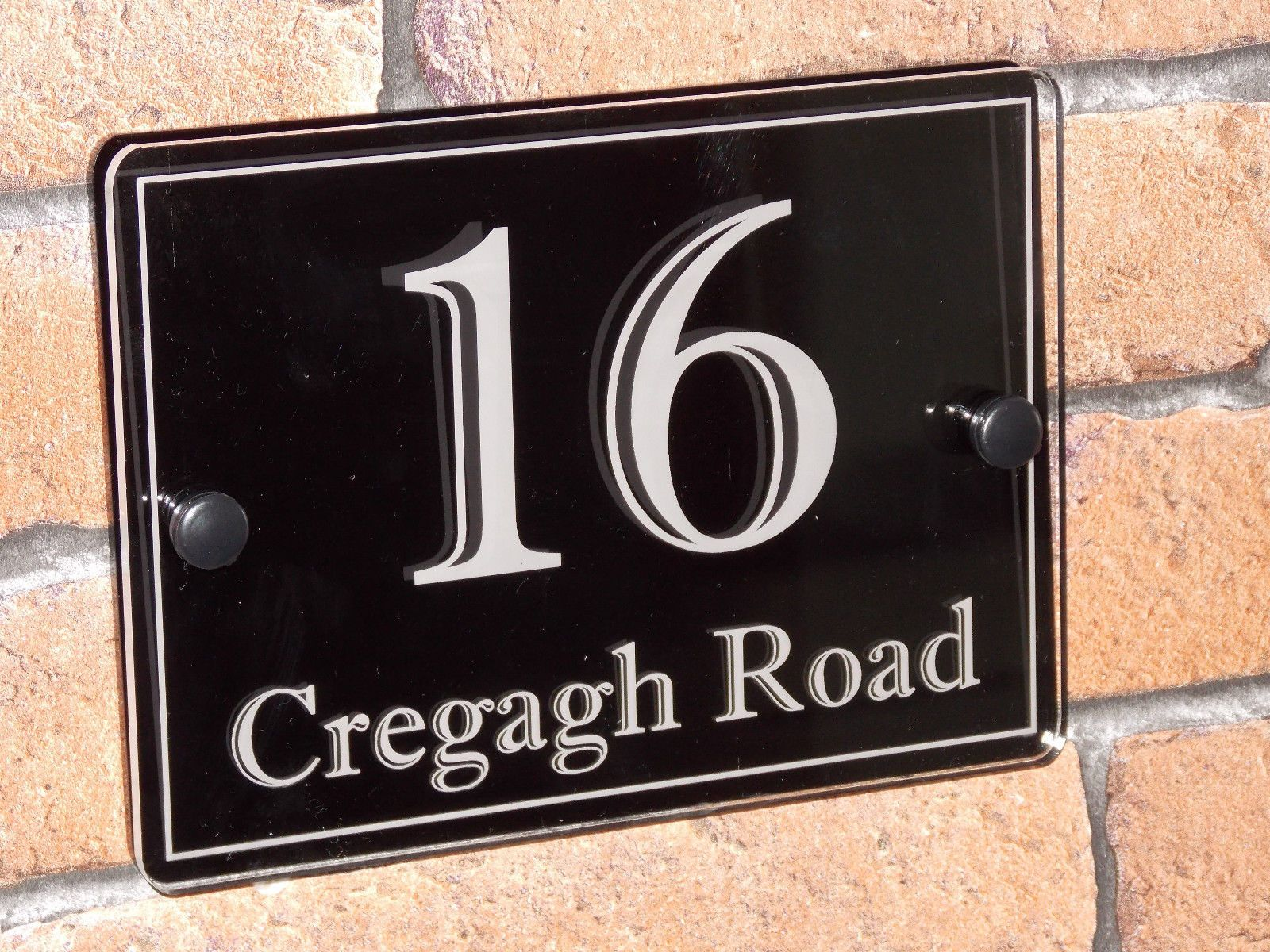 MODERN HIGH QUALITY DOOR NUMBER HOUSE/ STREET SIGN PLAQUE ACRYLIC LASER  ENGRAVED In Home,